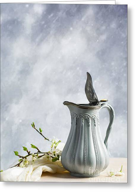 Lids Greeting Cards - Antique Jug Greeting Card by Amanda And Christopher Elwell