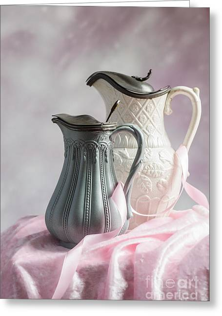 Water Jug Greeting Cards - Antique Jugs Greeting Card by Amanda And Christopher Elwell