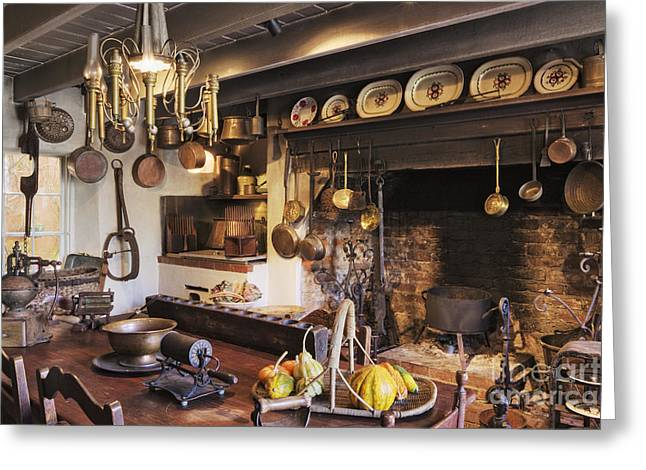 Southern Living Greeting Cards - Antique Kitchen Greeting Card by Jeremy Woodhouse