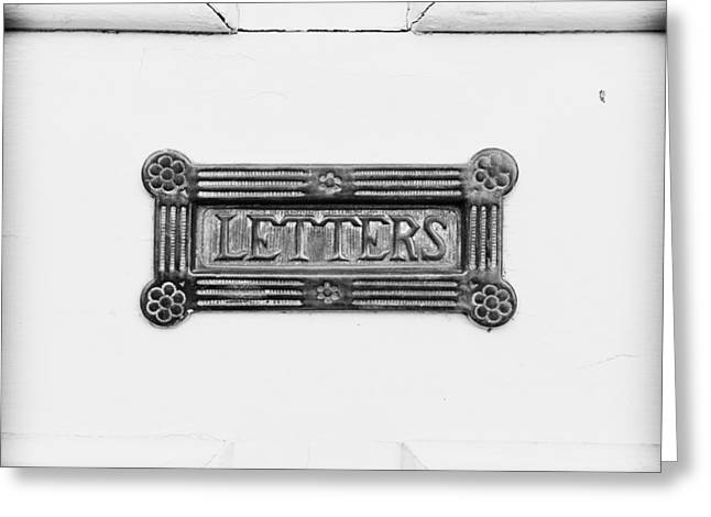 Wooden Antique Building Greeting Cards - Antique letterbox Greeting Card by Tom Gowanlock