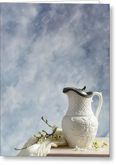 Lids Greeting Cards - Antique Lidded Jug Greeting Card by Amanda And Christopher Elwell
