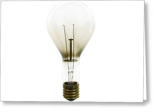 Brass Fittings Greeting Cards - Antique Lightbulb Greeting Card by Jennifer Booher