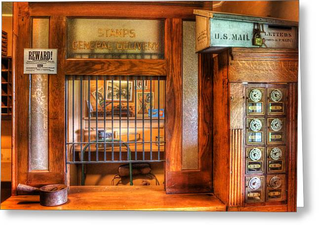 Postboxes Greeting Cards - Antique Post Office at the General Store -  Greeting Card by Lee Dos Santos