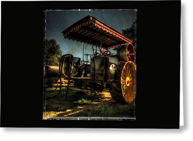 Antique Powerland Museum Tractor Greeting Card by Thom Zehrfeld