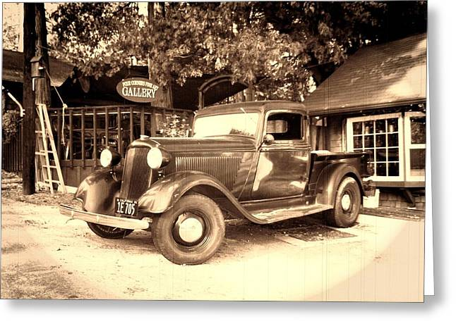 Dodge Digital Art Greeting Cards - Antique Road Warrior - 1935 Dodge Greeting Card by Glenn McCarthy Art and Photography
