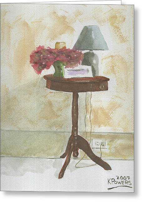 Table Lamp Greeting Cards - Antique Table Greeting Card by Ken Powers