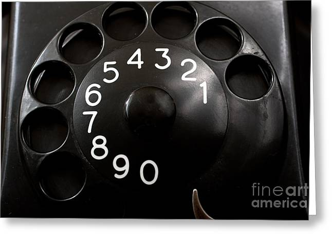 Gunter Nezhoda Greeting Cards - Antique Telephone Dial Greeting Card by Gunter Nezhoda
