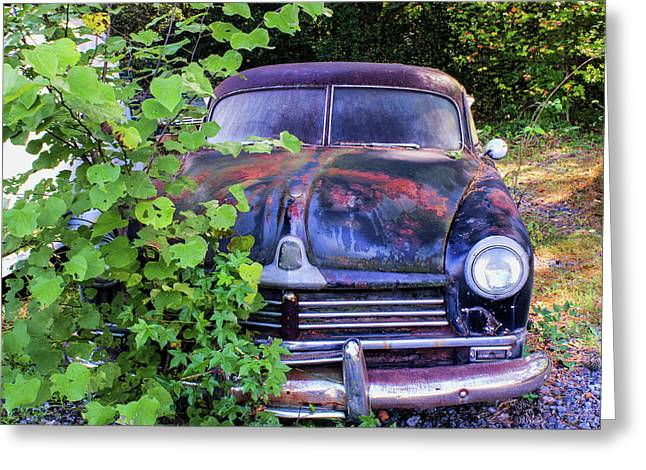 Antique Vibrant Vintage Vehicle 12 Greeting Card by Douglas Barnett