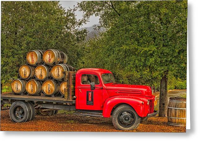 Antique Winery Truck Greeting Card by Mountain Dreams