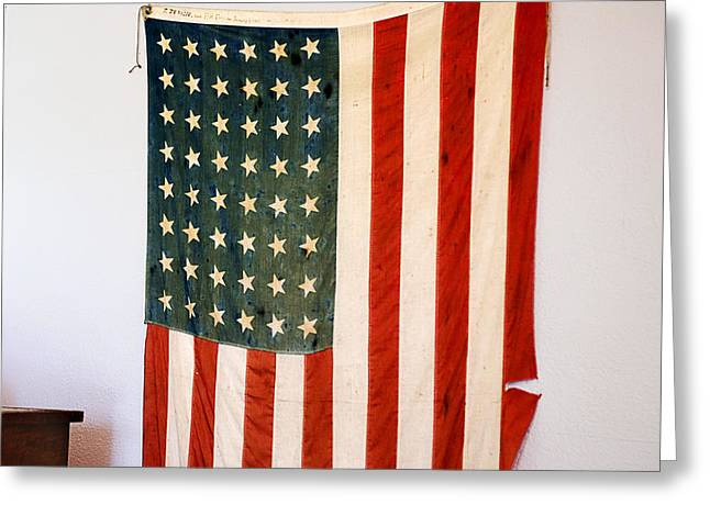 Union Square Greeting Cards - Antique 48 Star American Flag  Greeting Card by Donald  Erickson