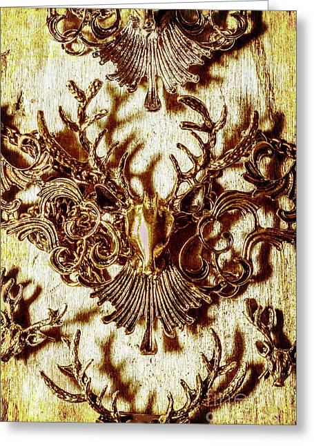 Antler Antiquities Greeting Card by Jorgo Photography - Wall Art Gallery
