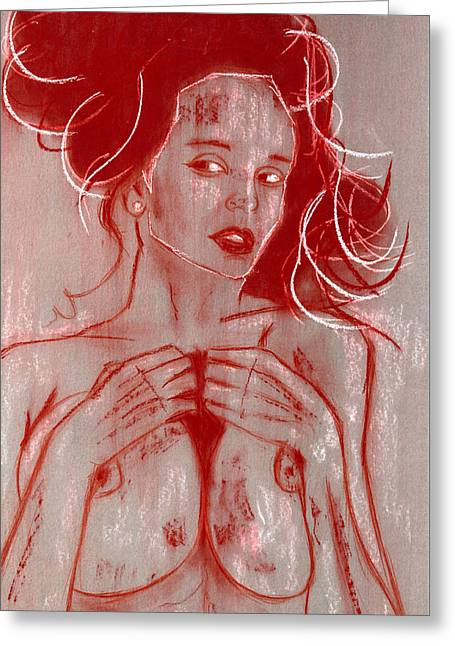 Bella Donna Greeting Cards - Antoinette Greeting Card by Alberto Dell