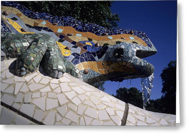 Spanish Art Sculpture Greeting Cards - Antoni Gaudi Was The First To Use Greeting Card by Taylor S. Kennedy