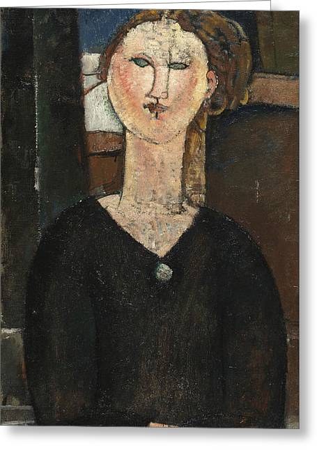 20th Greeting Cards - Antonia Greeting Card by Amedeo Modigliani