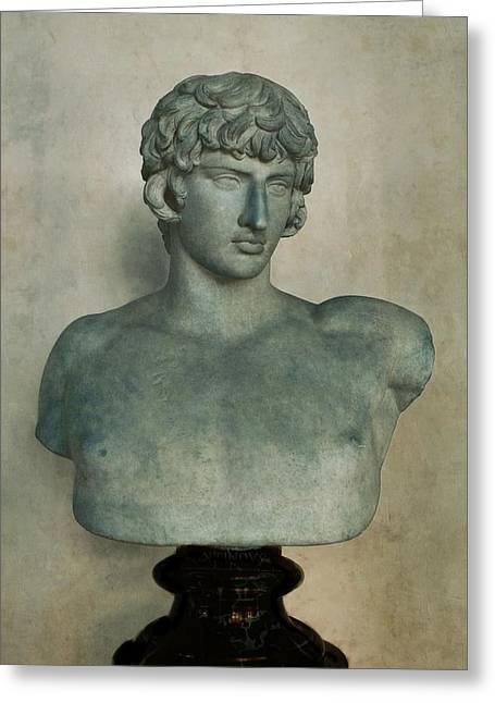 Greek Sculpture Greeting Cards - Antonius Greeting Card by Patricia Strand