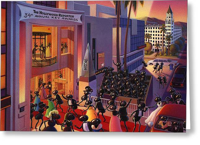 Ants Awards night Greeting Card by Robin Moline