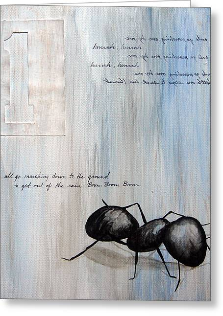 Ants Marching 1 Greeting Card by Kristin Llamas