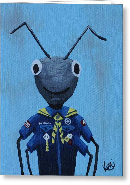 Ant's School Picture Greeting Card by Kerri Ertman