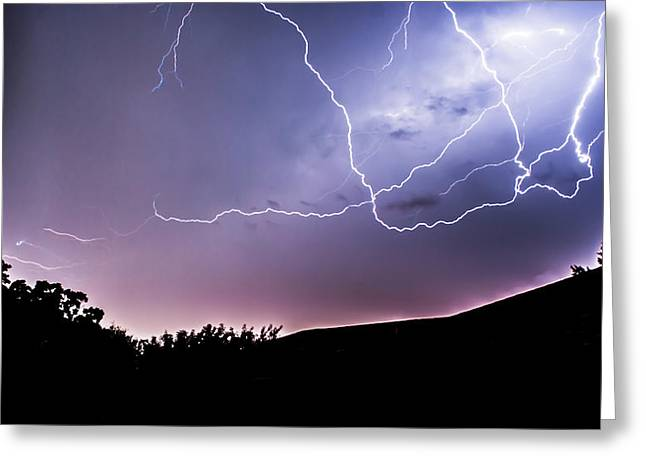 Electric Creation Greeting Cards - Anvil Crawlers at Night Greeting Card by Shelby  Young