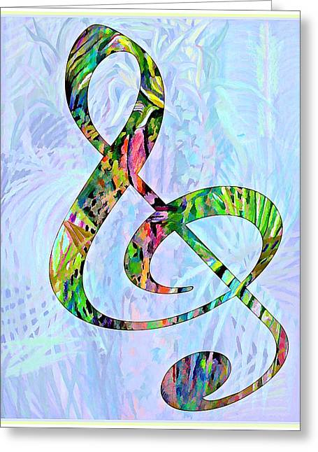 Computer Art And Digital Art Greeting Cards - Any Kind of Music Will Do Greeting Card by Mindy Newman