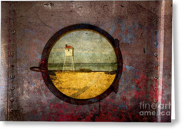 Port Holes Greeting Cards - Any Port Greeting Card by Todd Bielby