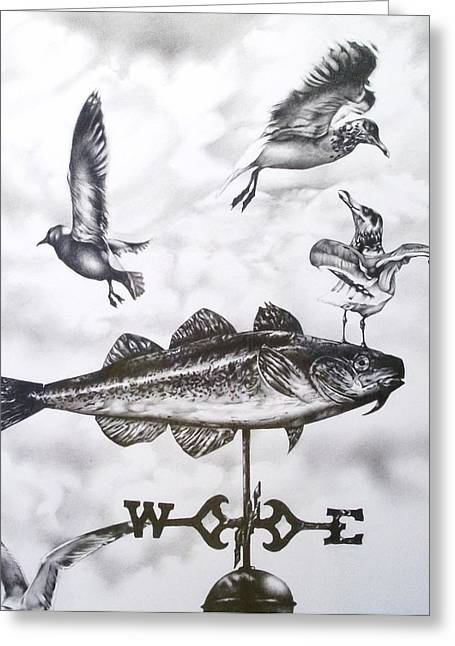 Weathervane Greeting Cards - Any Way the Wind Blows Greeting Card by Michael Lee Summers