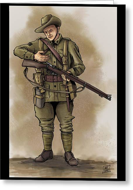 Wwi Greeting Cards - Anzac Greeting Card by Matt James