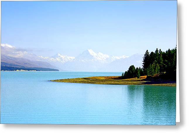 Lord Of The Rings Photographs Greeting Cards - Aoraki and Lake Pukaki Greeting Card by Kevin Smith