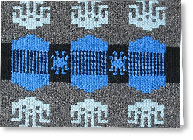 Graphic Tapestries - Textiles Greeting Cards - Apache Ice Greeting Card by Judy Hilbish