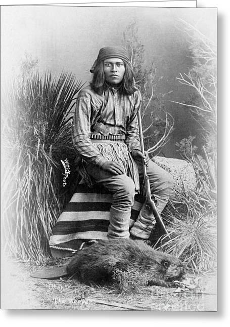 Native American Leaders Photographs Greeting Cards - Apache Leader, 1885 Greeting Card by Granger