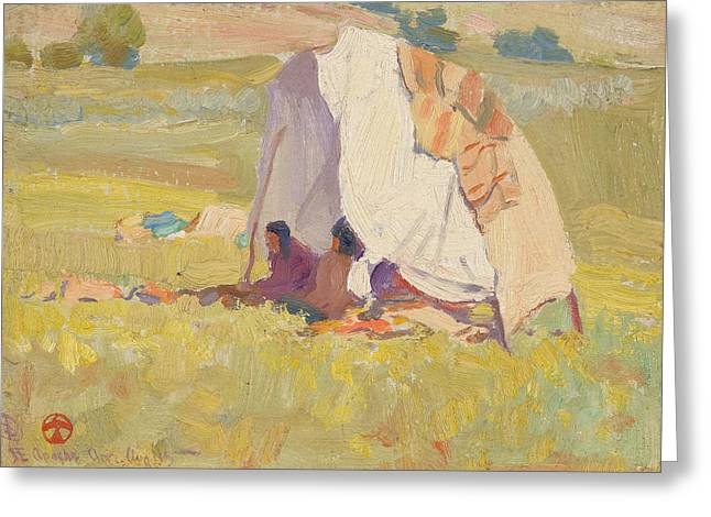 Maynard Dixon Greeting Cards - Apache Shelter Greeting Card by Celestial Images