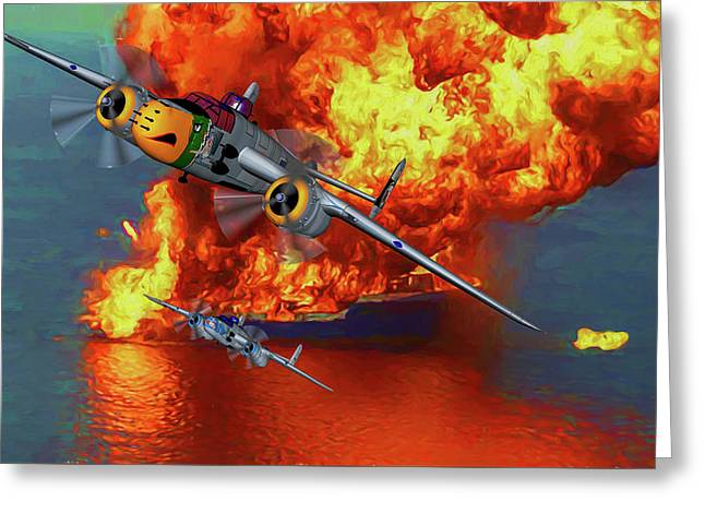 Apache Strike - Oil Greeting Card by Tommy Anderson