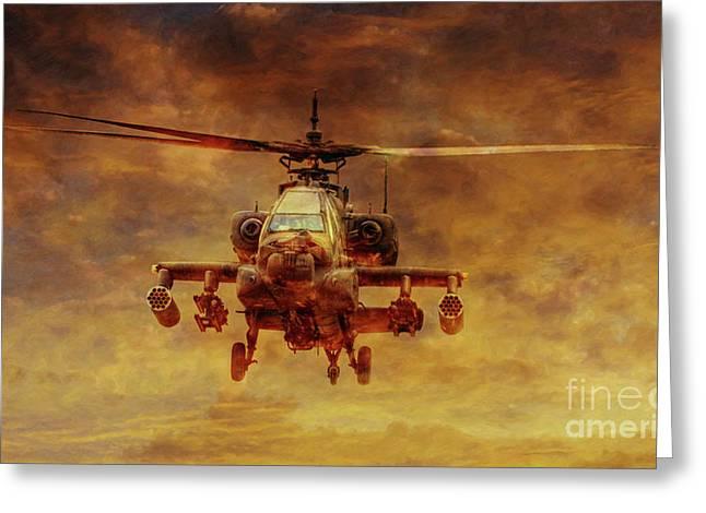 Apache Sunset Greeting Card by Randy Steele