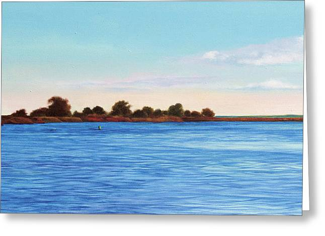 Apalachicola Bay Autumn Morning Greeting Card by Paul Gaj