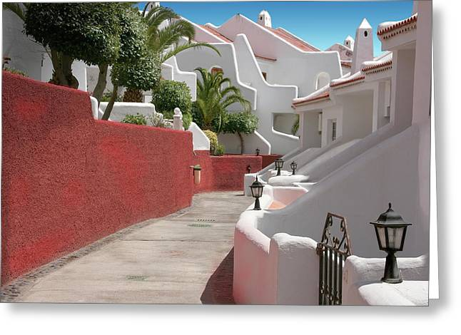 Apartments San Blas Tenerife Greeting Card by Aleck Rich Seddon