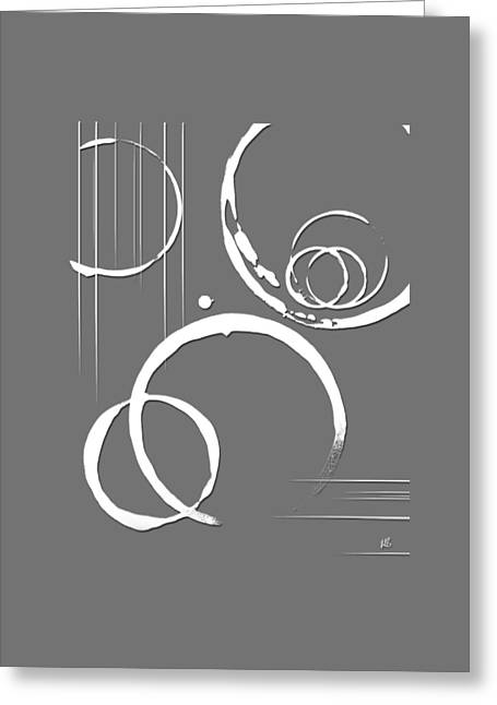 Geometric Artwork Greeting Cards - Apathy Graphic Greeting Card by Melissa Smith