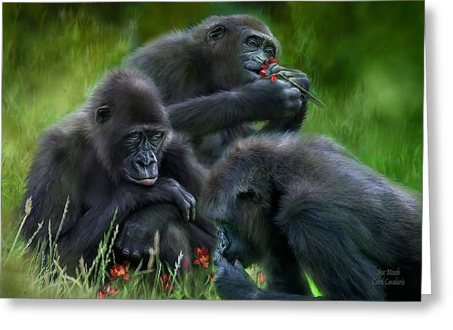 Ape Greeting Cards - Ape Moods Greeting Card by Carol Cavalaris
