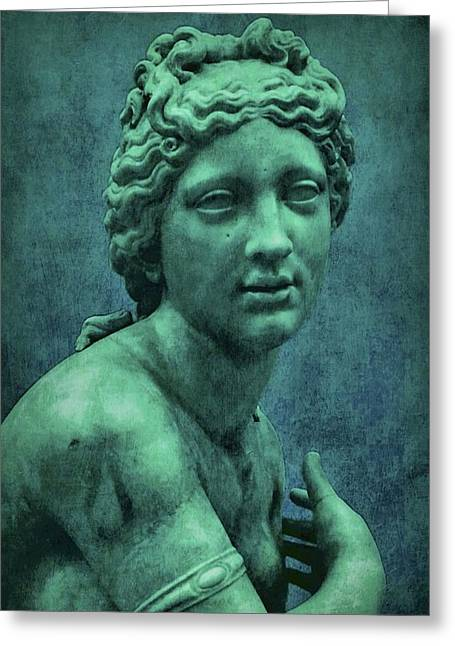 Greek Sculpture Greeting Cards - Aphrodite in Blue Greeting Card by Patricia Strand