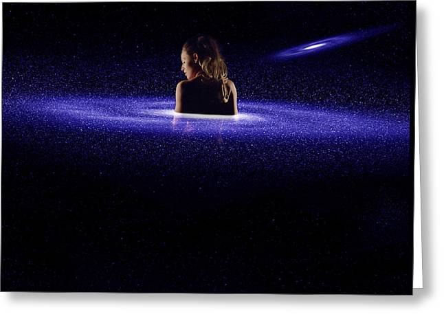 Aphrodite Spiral Galaxy Greeting Card by Pelo Blanco Photo