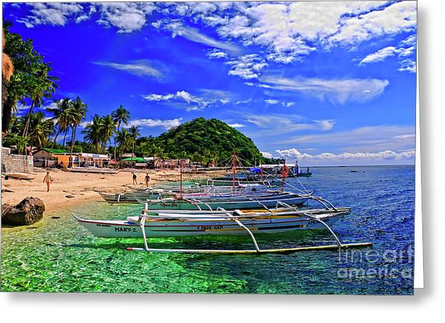 Asien Greeting Cards - Apo Island Greeting Card by Joerg Lingnau