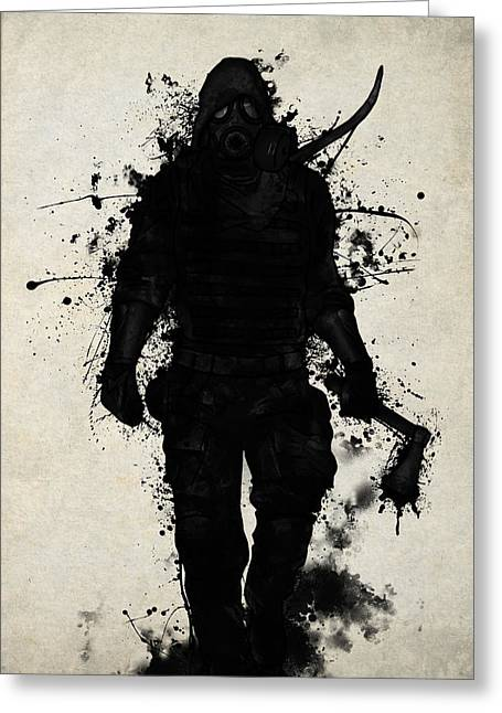 Apocalyptic Greeting Cards - Apocalypse Hunter Greeting Card by Nicklas Gustafsson