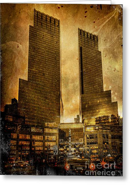 Gotham City Photographs Greeting Cards - Apocalyptic Visions Greeting Card by Evelina Kremsdorf
