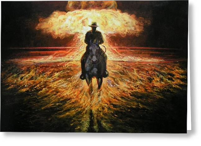 Book Of Isaiah Greeting Cards - Apocolypse Greeting Card by Calvin Carter