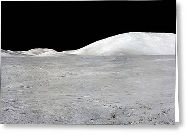 Lunar Surface Greeting Cards - Apollo 17 Panorama Greeting Card by Stocktrek Images