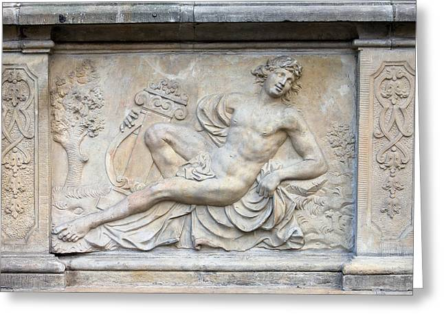 Greek Sculpture Greeting Cards - Apollo Relief in Gdansk Greeting Card by Artur Bogacki