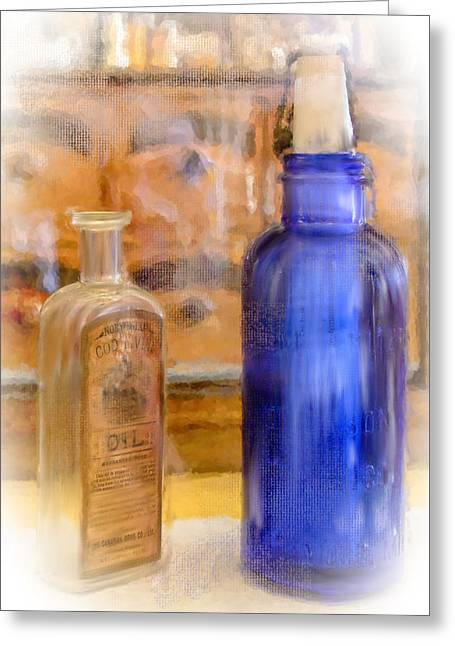 Clutch Bag Greeting Cards - Apothecary Greeting Card by Mary Timman