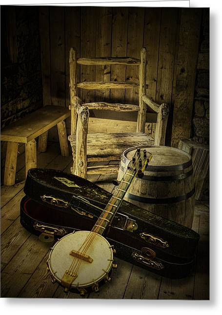 Country And Western Greeting Cards - Appalachian Banjo Greeting Card by Randall Nyhof