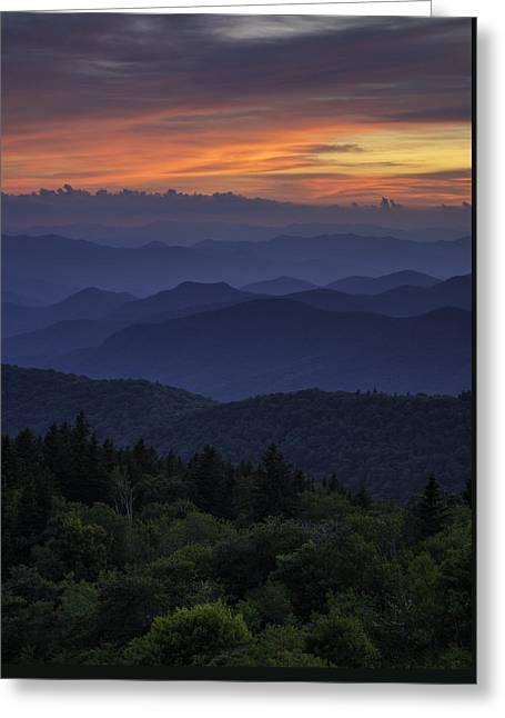 Sunset Prints Greeting Cards - Appalachian Dream Greeting Card by Johan Hakansson