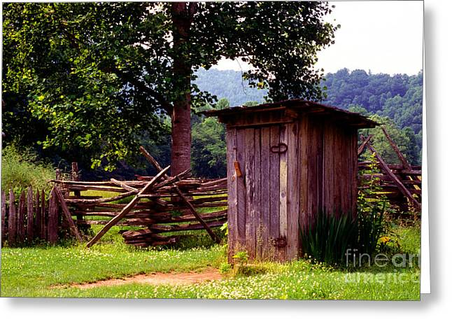 Outhouses Greeting Cards - Appalachian Hill-ton Greeting Card by Paul W Faust -  Impressions of Light