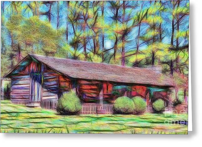 Tennessee Landmark Greeting Cards - Appalachian Home Greeting Card by D Hackett